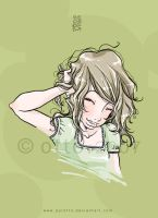 laughing girl by porotto