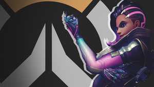 Overwatch Side Profile Wallpaper - Sombra by PT-Desu