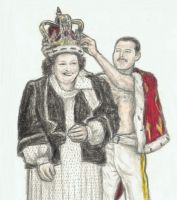 Montsserrat Caballe and Freddie Mercury by gagambo