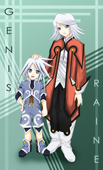 ToS - Genis and Raine Sage by LightSilverstar
