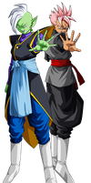 Zamasu and Future Gohan Black by lssj2