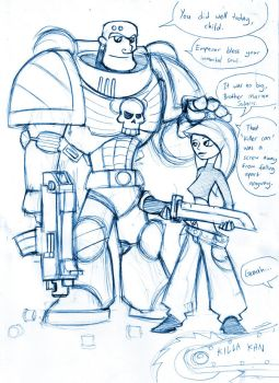 Kim meets Space Marine by Sanity-X