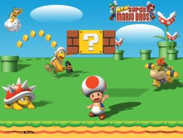 New Super Mario Background by Whooogo
