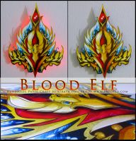 WoW Race Crest: Blood Elf by StrayaObscura