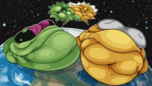 (Commission) Planetary Fat Beast Boy and Megas by LordFFParaPhilum
