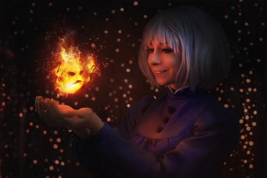 Howl's moving castle: Calcifer by MiraMarta