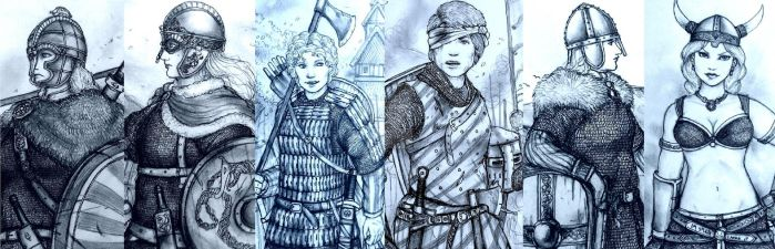 HWS: Medieval Shieldmaidens of the North by Gambargin