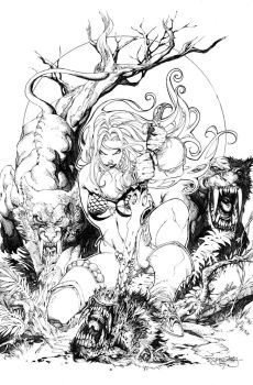 Red sonja cover issue 24 by sjsegovia