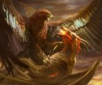 Eagle and Dragon by Manzanedo