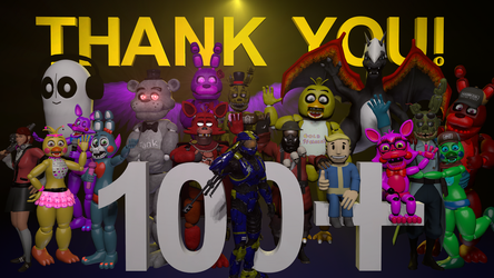 100 Watchers - Thank You! by Arbiter1223
