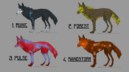 [OPEN] Wolf Adoptables! 50 pts each by DreamerTheTimeLady
