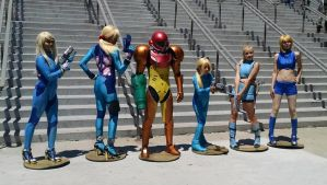 Samus Amiibo Collection by d-slim