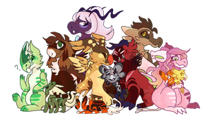 The Gang is All Together by Ashiirr