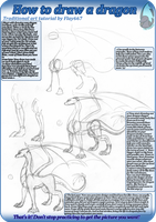 Traditional tutorial: How to draw standing dragon by WingedWilly