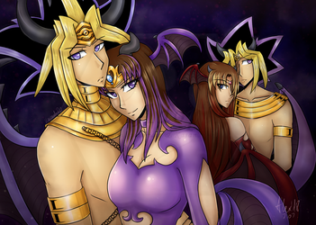 Incubus King and Succubus Queen (comm.) by 96-Adopts