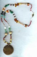 Earth Colors Necklace by shetakaey