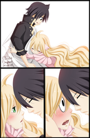 Zeref and Mavis by claudiadragneel