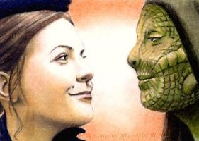 Jenny Flint + Madame Vastra sketchcard by whu-wei