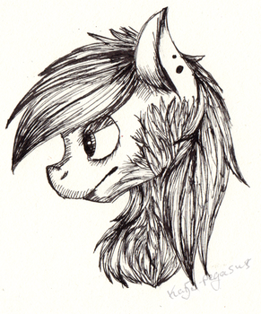 first time drawing with ink by Katja-Pegasus