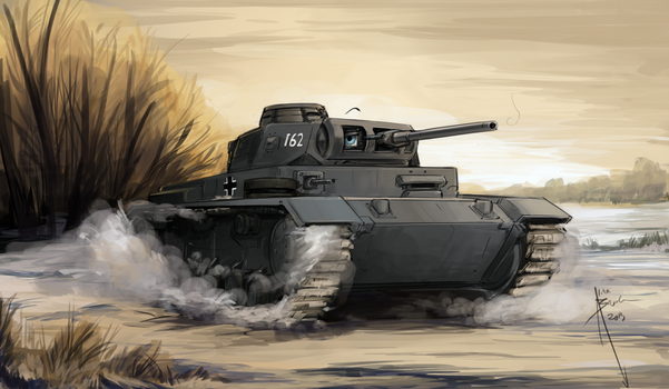 Panzer III by Hydrothrax