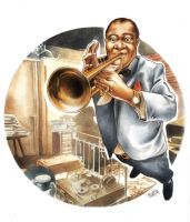 Louis Armstrong by Martidy