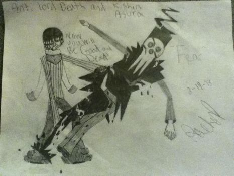 Anti Lord death and Kishin Asura by soleatrcharchar123