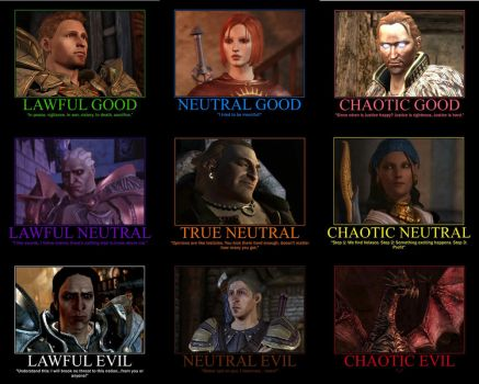 Dragon Age Alignment Chart by Gamer28