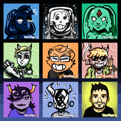 ICONS (OCs, raffles and commissions) by UNDISCOVER-art