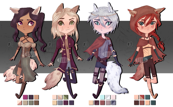 SOLD|| Fantasy Kemonomimi Adopts by BuurdAdopts