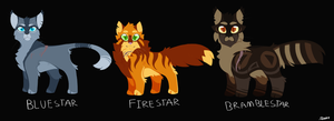 Thunderclan Leaders by Cosmic-rust