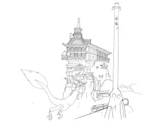 Yubabas Bathhouse (outline) by tak-lung