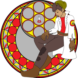 KH Chemist Stained Glass by BlazetheAngelQueen