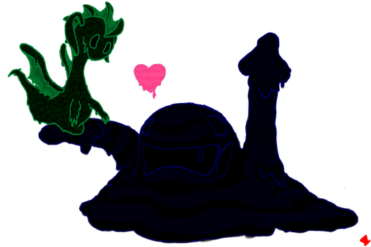 DnD - Glubby and Maurice - Ooze Mating Ritual by MadHatter-Himself