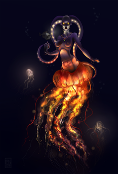 Mother of jellyfishes by MoonlitAlien