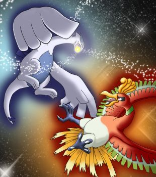 Lugia.Ho-Oh battlefield by NickTheCharmander