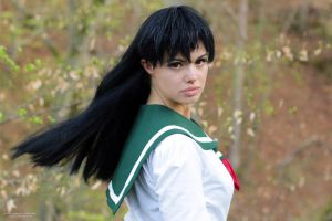 Kagome Cosplay - The Power Of One Word.. by WhiteRavenCosplay