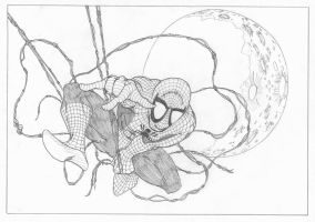 Spider-Man + The Moon by davew