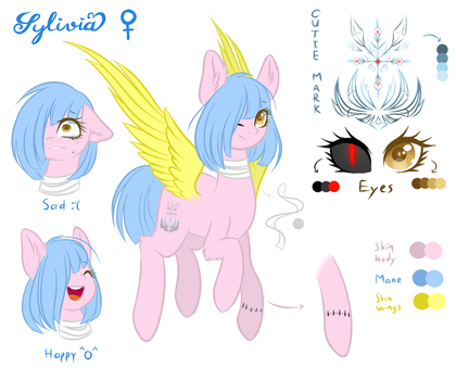 Sylivia charater sheet by Snowty-Larry