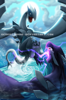 Pokemon - Lugia vs Shadow Lugia