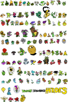 Plants in PVZH - The (not really) Full Collection! by DevianJp824