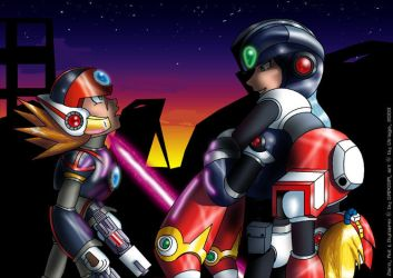 MMX - Dynamo vs Axl by virago-rs