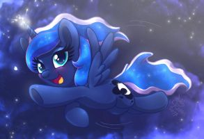 MLP FIM - Happy Little Luna In The First Dream by Joakaha