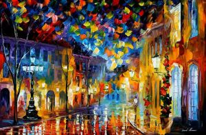 Old Part Of Town by Leonid Afremov by Leonidafremov