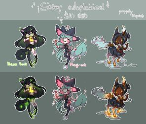 shiny adoptables batch 1 - CLOSED by TheRainbowBear