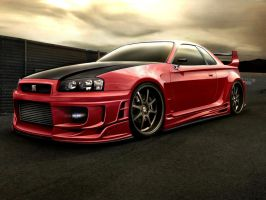 Nissan Skyline GTR 34 by SB-Design
