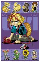 CHIBI MAXI PRINT - My Cat Loki by DreamworldStudio