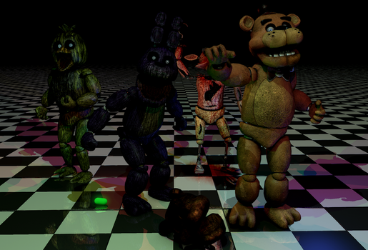 FNAF-Cinema4d+SAI by Christian2099
