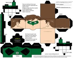 Cubeecraft Green Lantern by eonlegend