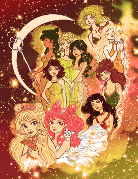 Sailor Scouts in Space
