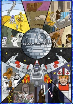 Stained Glass Star Wars by GeneralBloodrain